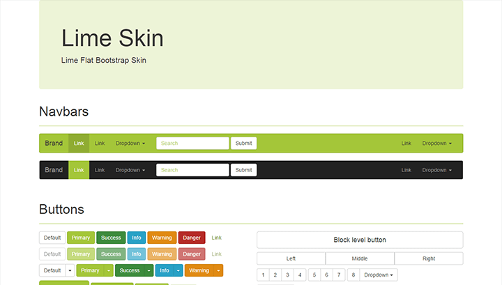 Lime – Flat Bootstrap Skin