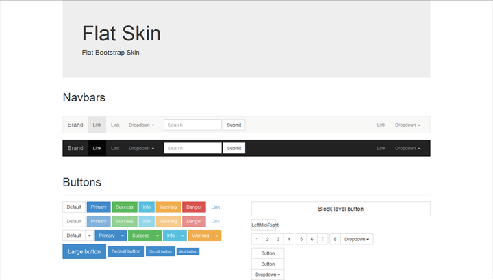Flat – Light Bootstrap Skin