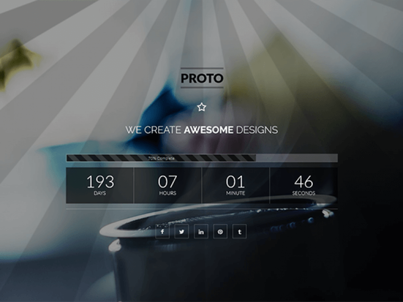 Proto – Responsive Parallax Coming Soon Page