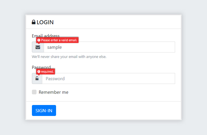 Bootstrap Login Form with AJAX and jQuery Validations