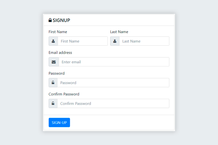Bootstrap Signup Form with AJAX and jQuery Validations