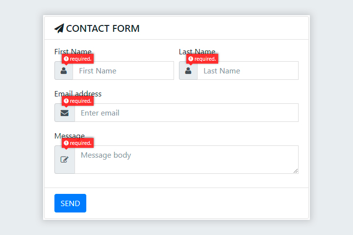 Bootstrap Contact Form with AJAX and jQuery Validations